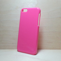 Hard Plastic Case for iphone 5c - Hot Pink