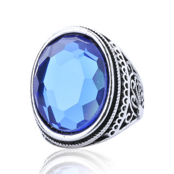 Luxury Purple Sapphire Ring  Vingtage Craft Flower Carved  Fine Jewelry  925 Sterling Silver Rings For Women Lord Of Rings 013