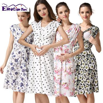 Emotion Moms summer maternity clothes nursing clothing nursing dress Breastfeeding Dress for Pregnant Women maternity dresses