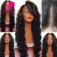 8A Grade Full density Virgin Brazilian Human Hair wigs Full Lace Wig
