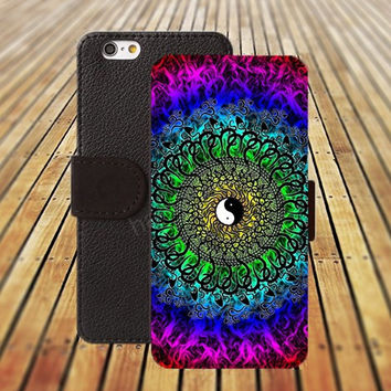 iphone 5 5s case Mandala OM Yin Yang iphone 4/ 4s iPhone 6 6 Plus iphone 5C Wallet Case , iPhone 5 Case, Cover, Cases colorful pattern L070