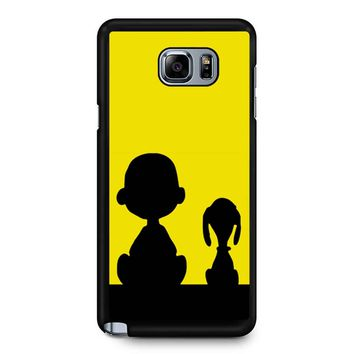 Snoopy And Charlie Brown Samsung Galaxy Note 5 Case