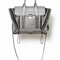 Silver Pashli Medium Satchel