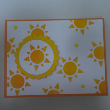 You Are My Sunshine Greeting Card/Blank Card by lilaccottagecards