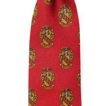 Theta Chi Neck Tie in Red by Dogwood Black