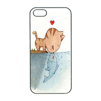 Cat kiss fish,Samsung S4Active case,Samsung S3 Case,Samsung S4 Case,Note2 case,Samsung Note3 case,iPhone 5C case,iPhone 5S case,iPhone 5Case
