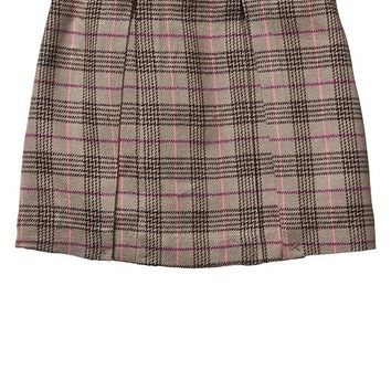 Gap Girls Factory Plaid Pleated Skirt