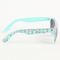 With Love From CA Mint Floral Sunglasses at PacSun.com