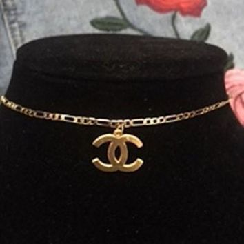 ONETOW The CC Gold 18kt GP Choker Necklace // Free Gift