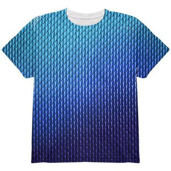 CREYCY8 Halloween Blue Ice Dragon Scales Costume All Over Youth T Shirt