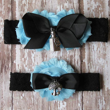 Alice in Wonderland Inspired Garter Set | Bridal Garter and Toss Garter