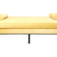 """Anne 84"""" Velvet Day Chaise, Key Lime, Daybeds"""