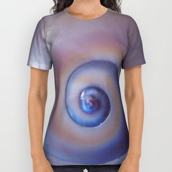 Moon snail All Over Print Shirt by Vesoterica