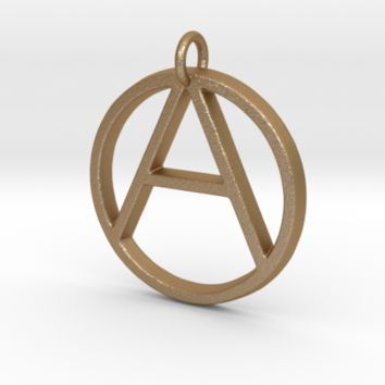Monogram Initials AO Pendant by CalicoFlair on Shapeways
