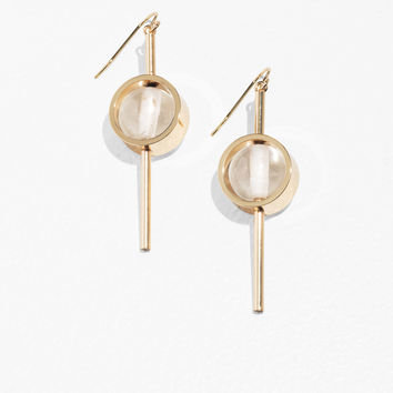 Circle Bead and Bar Earrings - White - Drop earrings - & Other Stories GB