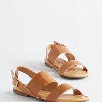 ModCloth Festival Ooh Baby It's a Wild Wharf Sandal in Caramel