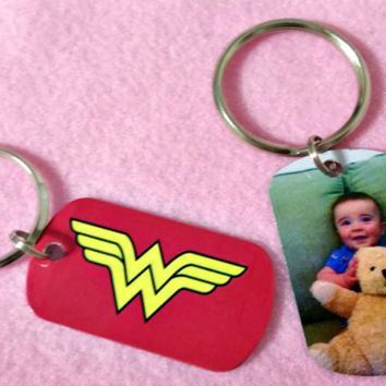 Dog Tag Made with Your Photo Necklace or Key Chain Double Sided