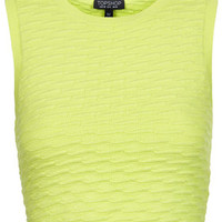 Wave Stitch Shell Top - Lime