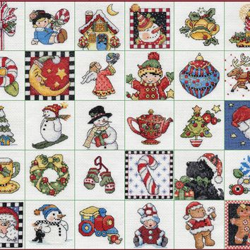 "Mary Engelbreit Ornaments Counted Cross Stitch Kit-2""X2"" 14 Count Set Of 30"