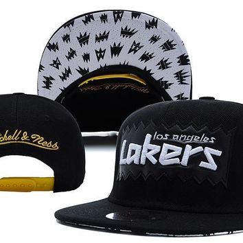 PEAPON L.A. Lakers Bat 9FIFTY Snapback Hat M&N