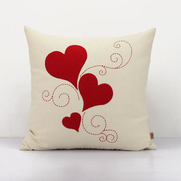 Love Decorative Cushion Cover,Valentine Pillow, Heart Throw Pillow, Accent  Pillow, Wedding