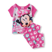 Short Sleeve Minnie Mouse PJ Set | The Children's Place