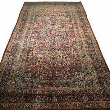10' x 18' Red Traditional Wool Hand-Knotted Distinctive Art Work Persian Rug