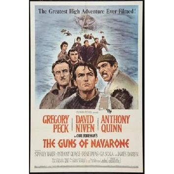 Guns Of Navarone poster Metal Sign Wall Art 8in x 12in