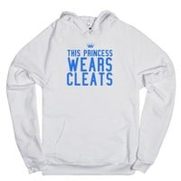 This princess wears cleats softball hoodie