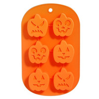 Pumpkin Shaped Silicone Ice Tray Chocolate Mold (Orange)