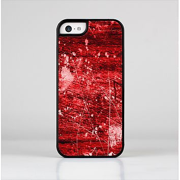 The Red Grunge Paint Splatter Skin-Sert Case for the Apple iPhone 5c