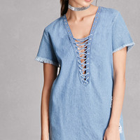 Denim Shift Mini Dress