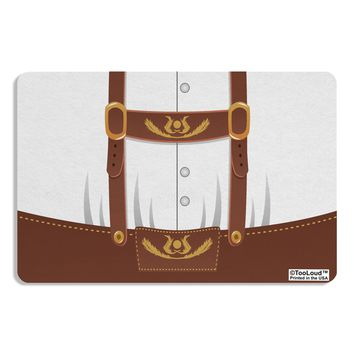 Lederhosen Costume Brown Placemat All Over Print by TooLoud