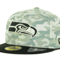 Seattle Seahawks NFL Cover 2 Tone 59FIFTY Cap