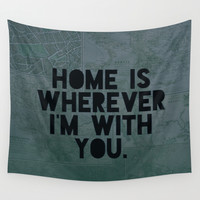 With You II Wall Tapestry by Leah Flores