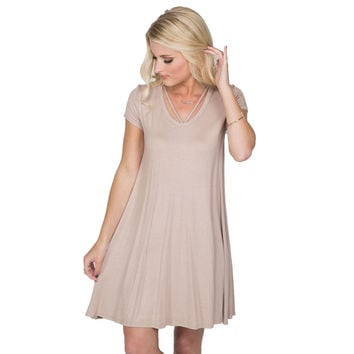 Made For Me Jersey Dress In Mocha