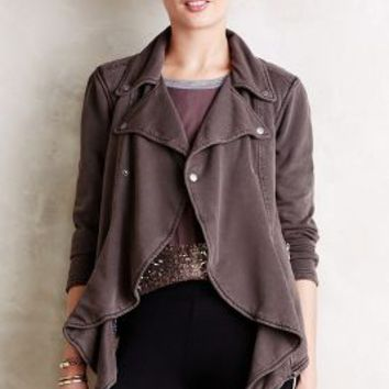 Laena Knit Moto Jacket by Hei Hei Dark Grey