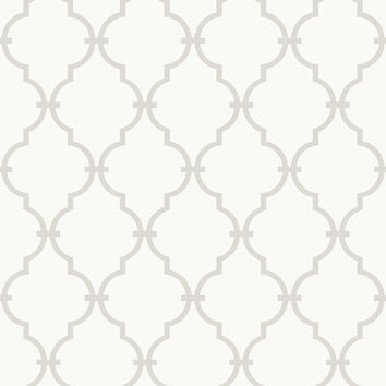 "Wade Logan Graphic 15' x 6"" Trellis Wallpaper"