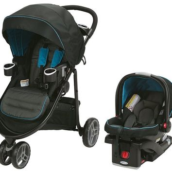 Graco Baby Modes 3 Lite Click Connect Travel System Stroller + Car Seat Poseidon