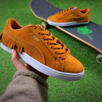 PUMA Suede Bboy Fabulous Classic SOCK Suede Shoes Yellow Tassel Sneaker - Best Online Sale