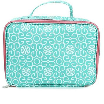 Canvas Lunch Bag | Mint Damask