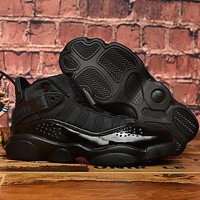 Air Jordan 6 Rings Black Toddler Kid Shoes Child Sneakers - Best Deal Online