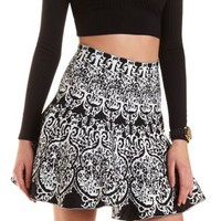 Baroque Sweater Knit Skater Skirt by Charlotte Russe