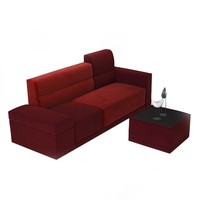 Modern Concise 31.4'' Wide 3 Seat Sofa