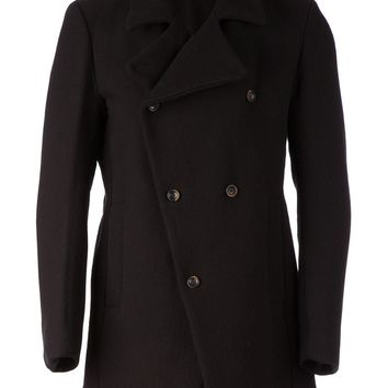 Masnada funnel neck double breasted coat