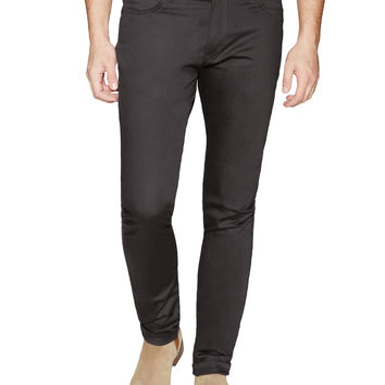 Naked & Famous Men's Stacked Guy Carbon Stretch Skinny Jeans - Dark Grey