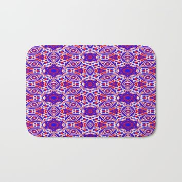 Red, White and Blue Diamonds 242 Bath Mat by Celeste Sheffey of Khoncepts