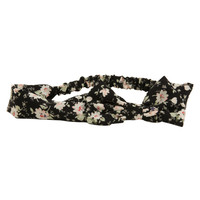 Aeropostale  Floral Bow Headband - Black, One