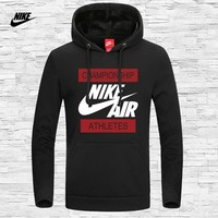 NIKE 2018 new sports and leisure hooded warm hooded sweater Black