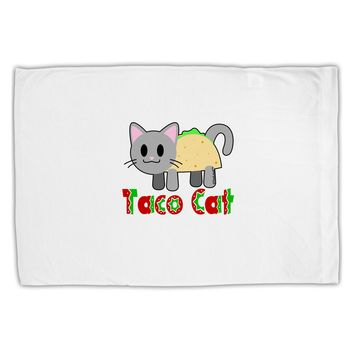 Cute Taco Cat Design Text Standard Size Polyester Pillow Case by TooLoud